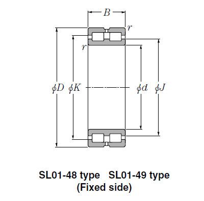 Bearing SL01-4926 SL Type Cylindrical Roller Bearings