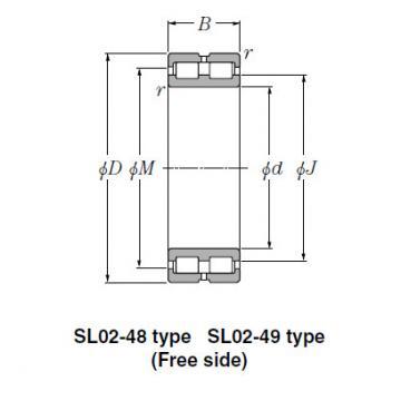 Bearing SL01-4848 SL Type Cylindrical Roller Bearings