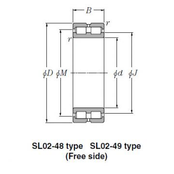 Bearing SL01-4980 SL Type Cylindrical Roller Bearings