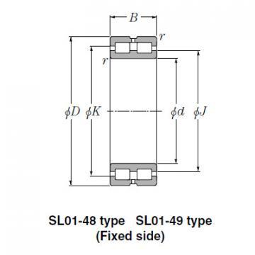 Bearing SL01-4876 SL Type Cylindrical Roller Bearings