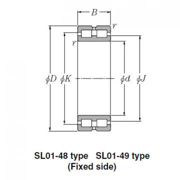 Bearing SL02-4936 SL Type Cylindrical Roller Bearings